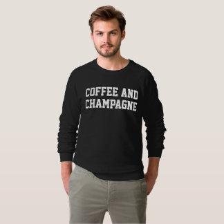 Tshirt O café dos homens e camisola preta de Champagne