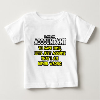 Tshirt O contador… supor que eu sou nunca errado