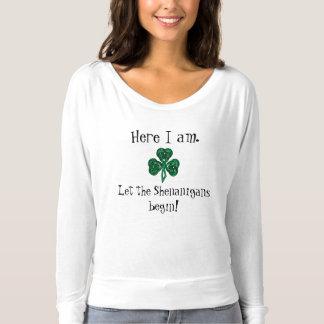 Tshirt O dia de St Patrick do divertimento deixou os
