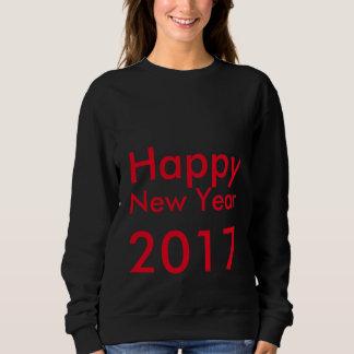 Tshirt O feliz ano novo editável 2017 do texto do modelo