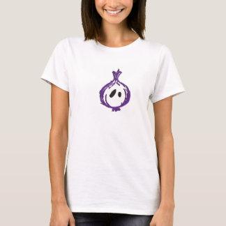 Tshirt O T das mulheres lisas da cebola