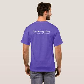 Tshirt O T unisex de Montessori do lugar de crescimento
