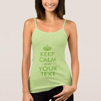 Tshirt O verde da folha mantem a calma e o seu texto