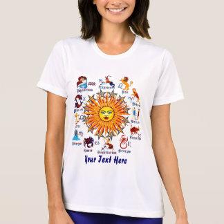 Tshirt O zodíaco assina mulheres todo o V-1