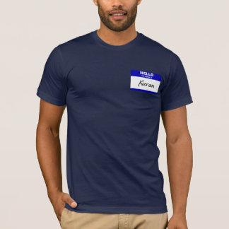 Tshirt Olá! meu nome é Kieran (azul)