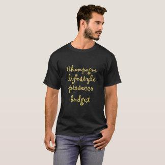 Tshirt Orçamento do prosecco do estilo de vida de