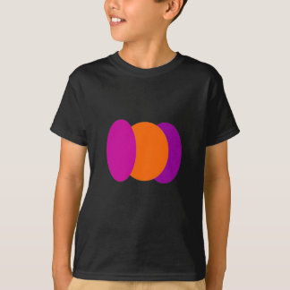 Tshirt Oval e círculo abstratos
