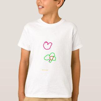 Tshirt Pássaro e flor