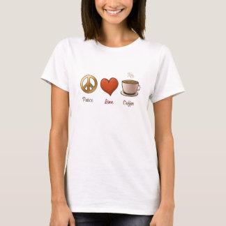 Tshirt Paz, amor, café