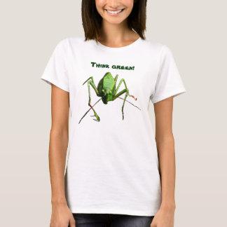 Tshirt Pense verde de Katydid