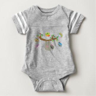 Tshirt Preguiças - Bodysuit preguiçoso do bebê do abraço