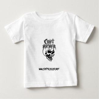 Tshirt preto & branco da criança do crânio
