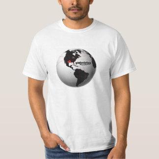 Tshirt preto & branco do globalplug do globo