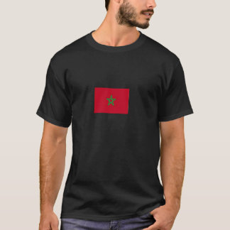 Tshirt preto da bandeira do Moorish