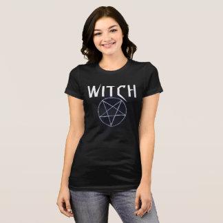 Tshirt preto da bruxa das mulheres