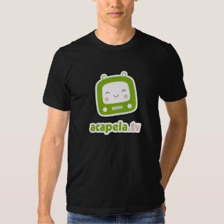 tshirt preto de acapela.tv