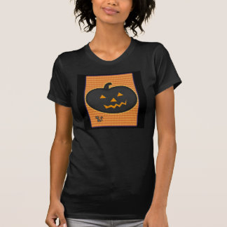 Tshirt preto do Dia das Bruxas da abóbora