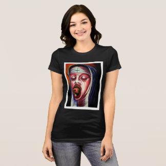 Tshirt preto do pecador das mulheres