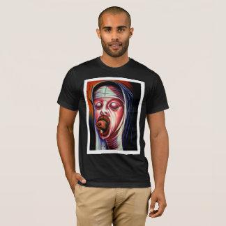 Tshirt preto do pecador dos homens