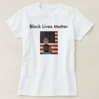 Tshirt preto do protesto da matéria das vidas