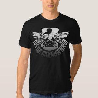 TShirt preto dos homens de Unknownn (roupa