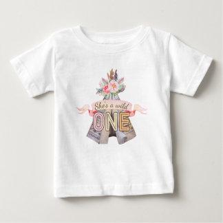 Tshirt Primeiro aniversario selvagem do Teepee tribal