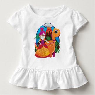 Tshirt Princesa Vestir-se Vidro do dinossauro
