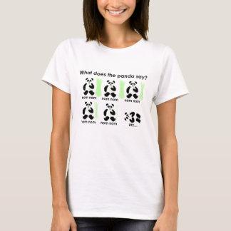 Tshirt Que faz a panda diz?