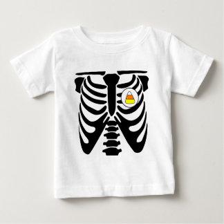 Tshirt raio X do milho de doces