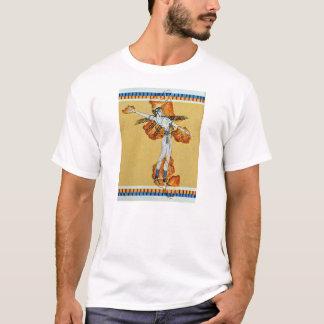 Tshirt réplica antiga grega da arte do fresco da pintura