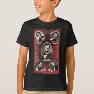 Tshirt Retratos do vintage de Abraham Lincoln