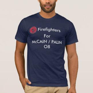 Tshirt Sapadores-bombeiros para McCAIN/PALIN O8
