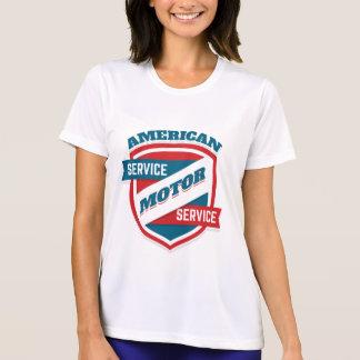 Tshirt Serviço americano do motor. Vintage referente à