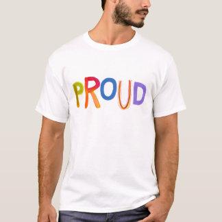 Tshirt Soberbo seguro unashamed corajoso da arte