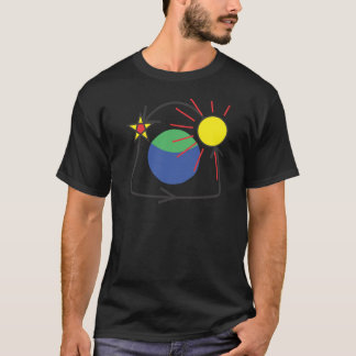 Tshirt Starsets & Sun.ai de aumentação