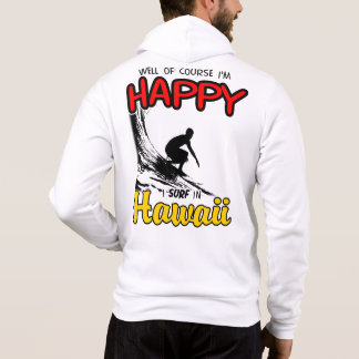 Tshirt Surfista feliz HAVAÍ (preto)