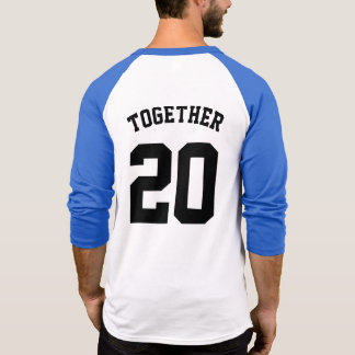 Tshirt T do basebol do aniversário