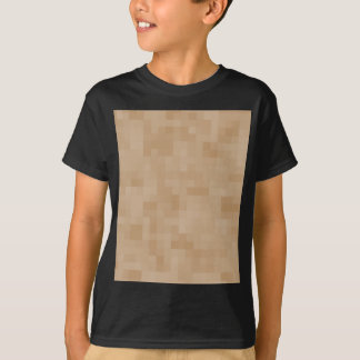 Tshirt Teste padrão claro do abstrato da cor de Brown do