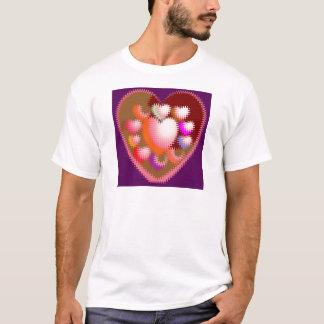 Tshirt Teste padrão de onda sensual do coração das