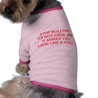 Tshirt tiranizando da campanha da parada do cachor roupa para cães