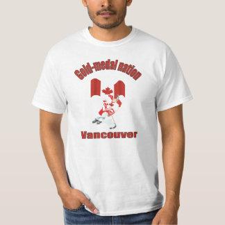 Tshirt Vencedores de medalha do ouro de Canadá