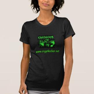 Tshirt verde das senhoras da foto