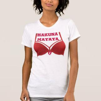 Tshirt vermelho engraçado das citações do sutiã de