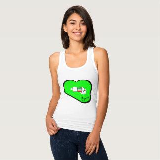 Tshirt Veste de Irã dos lábios de Sharnia (lábios verdes)