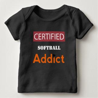 Tshirt Viciado certificado do softball