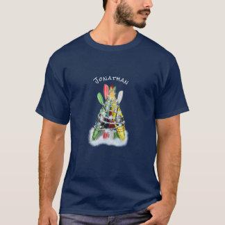 Tshirts A árvore de Natal do caiaque personalizada