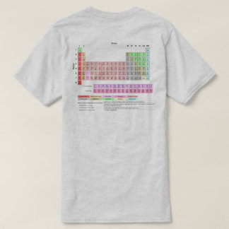 Tshirts A mesa de elementos periódica suporta a cor