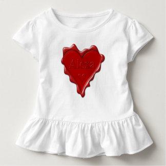 Tshirts Alexa. Selo vermelho da cera do coração com Alexa