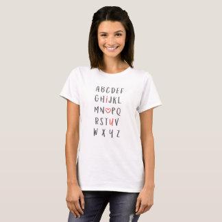 """Tshirts Alfabeto """"eu te amo """""""