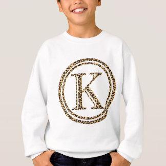 Tshirts alfabeto K do leopardo